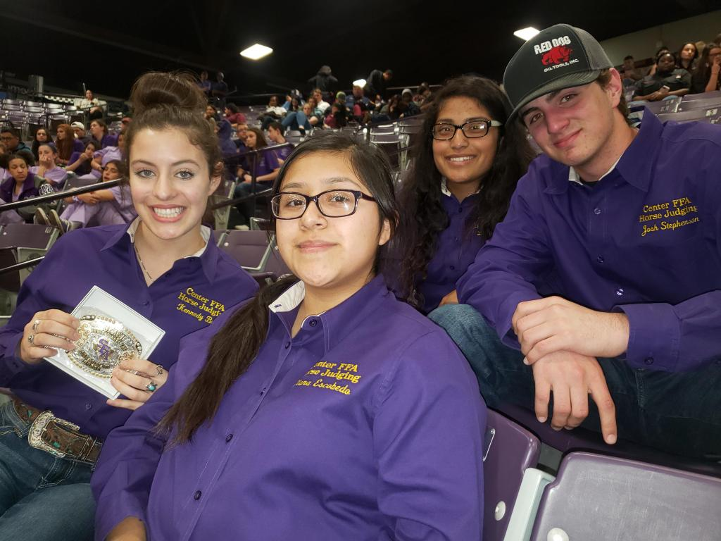 From left to right: Kennedy Bush, Diana Escobedo, Litzy Duarte, and Josh Stephenson