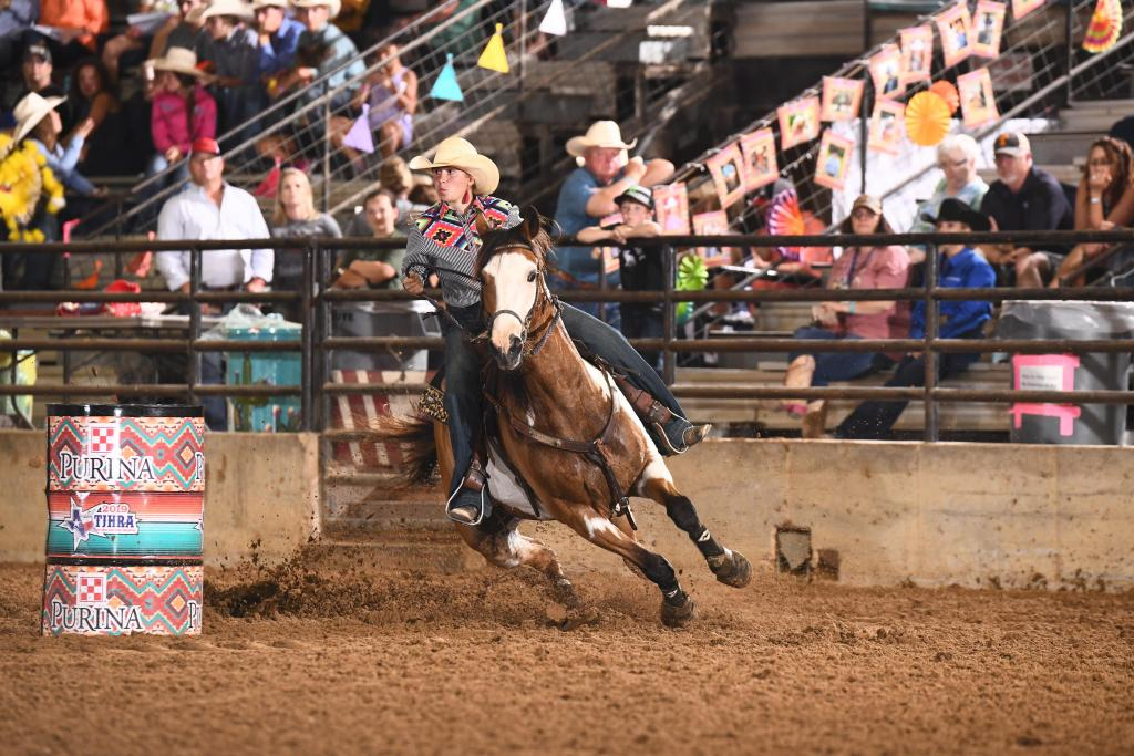 Abi DePriest in rodeo action (courtesy photo)
