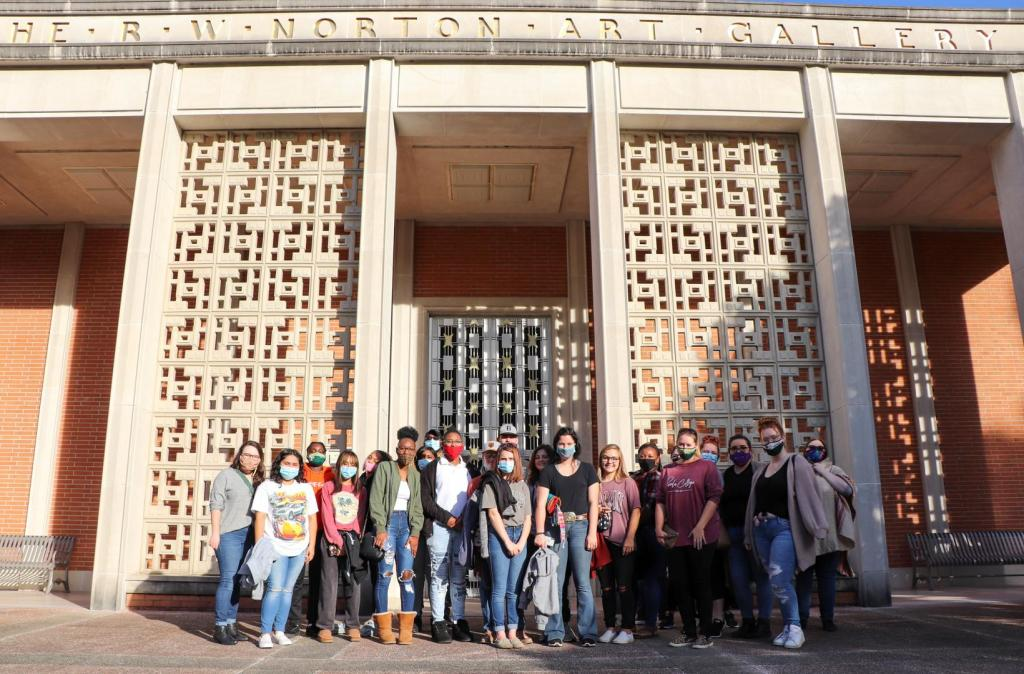 Panola College students photographed outside the R.W. Norton Art Gallery in Shreveport, LA on November 4.