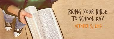 National Bring you Bible to School Day in Oct. 5