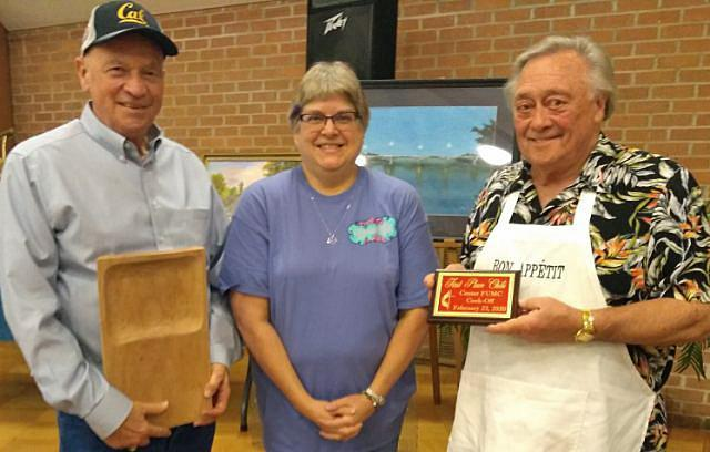 Chili Winner — Team Not Wolf Brand Chili, presented by Becky Parait to — Joe Bill Mettauer, Bill Holt and Steve Tinkle (not pictured).