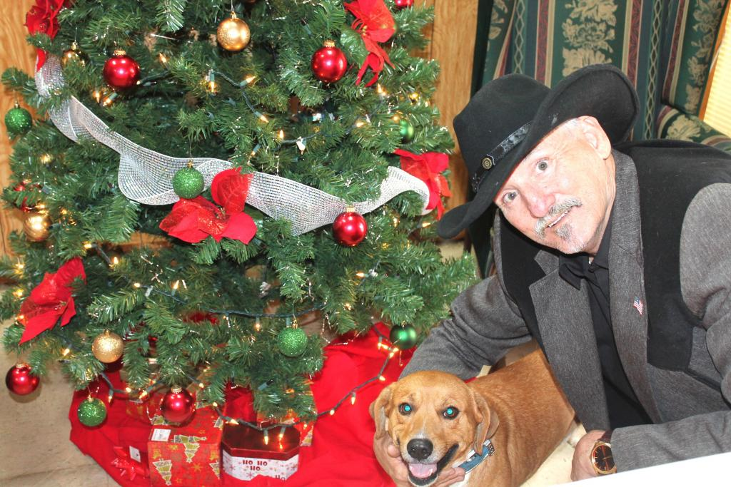 Socs the dog saved Clifford Woodhatch's life when fire broke out in the RV he lived in.