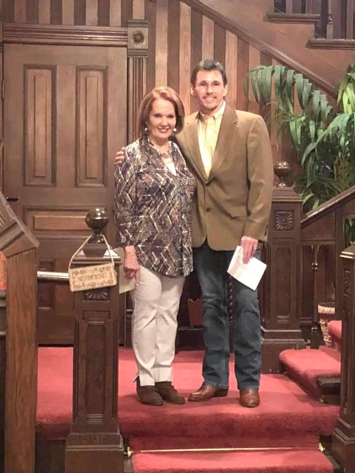 After — Colleen Doggett with Dr. John Caster at Saturday evening's reveal