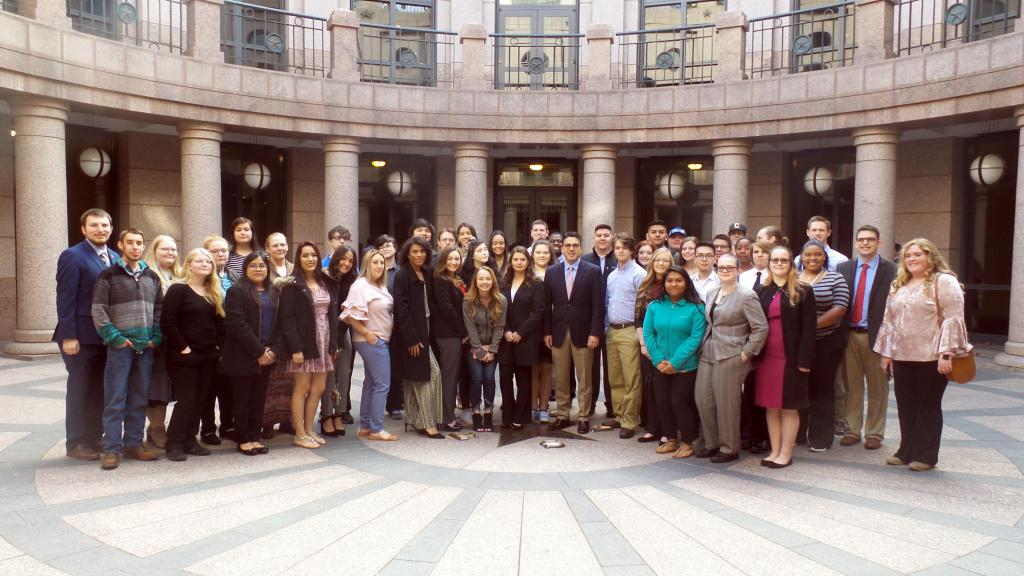 The Panola College group met with State Representative Chris Paddie at the State Capitol.