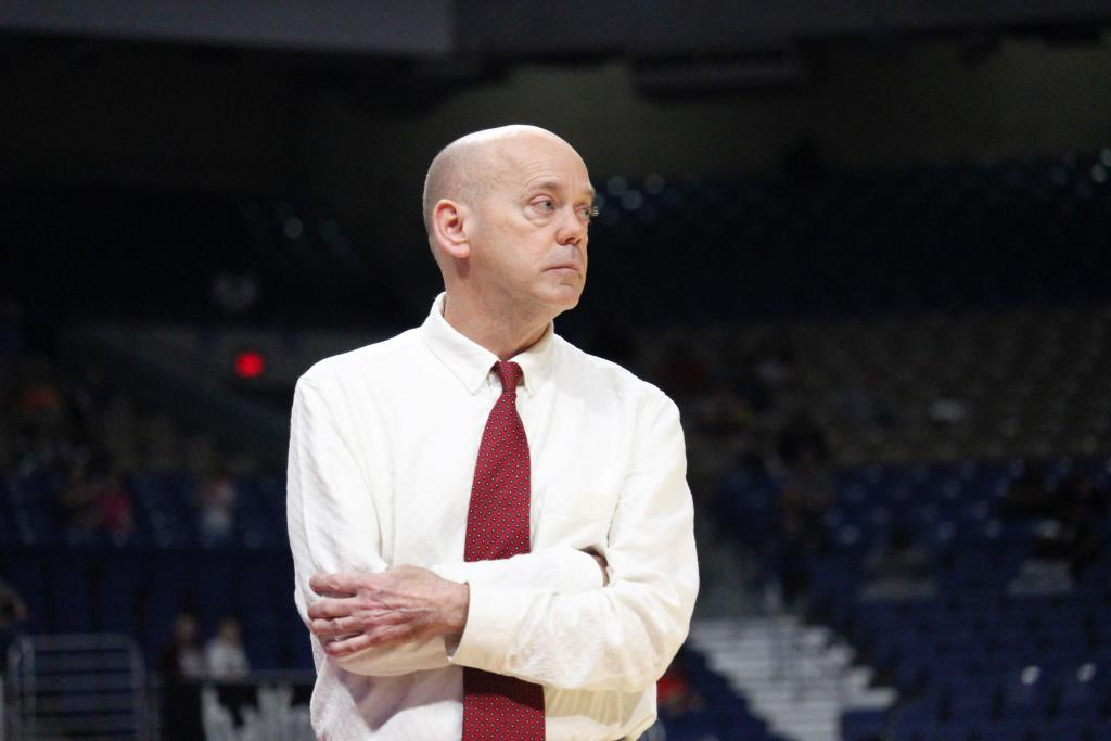 Head Basketball Coach David Schmitt is moving on from Shelbyville after four years, three Region III Championships, three trips to the State Tournament, one State Championship, and one Co-State Championship. (Photo by Taylor Bragg, Freelance Photographer)