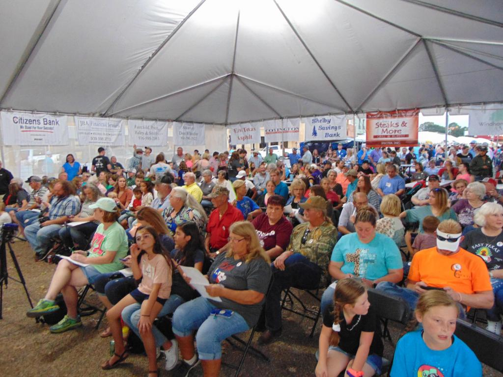 The big tent housing the Main Stage for the Poultry Festival was filled to capacity.