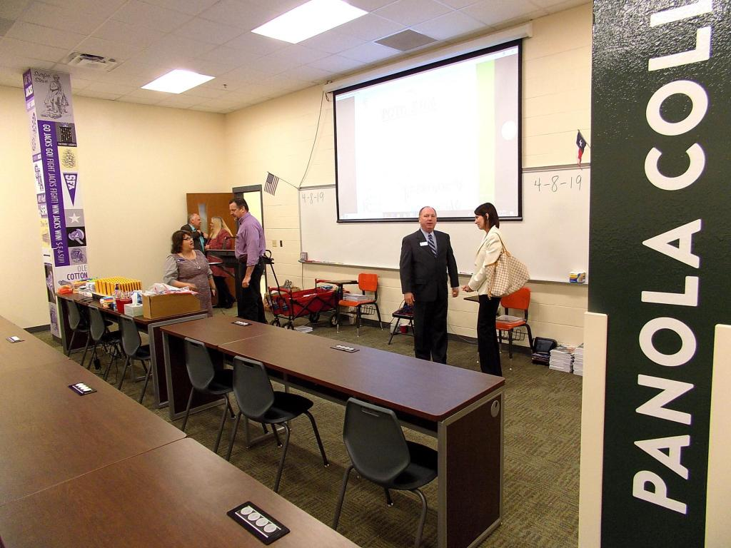 One of the classrooms in the TISD Collegiate Center