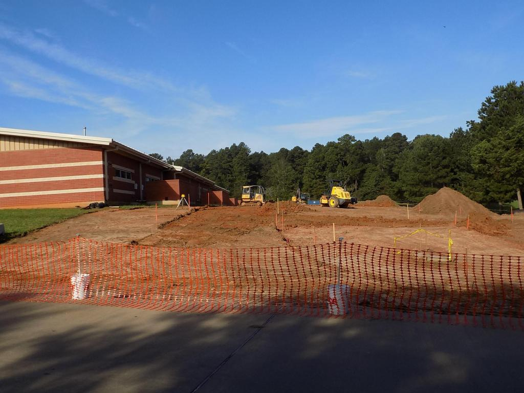 Construction has started at Center Elementary School