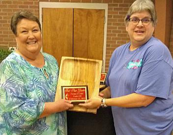 Gumbo Winner — Ruby Everitt with award presented by Becky Parait.