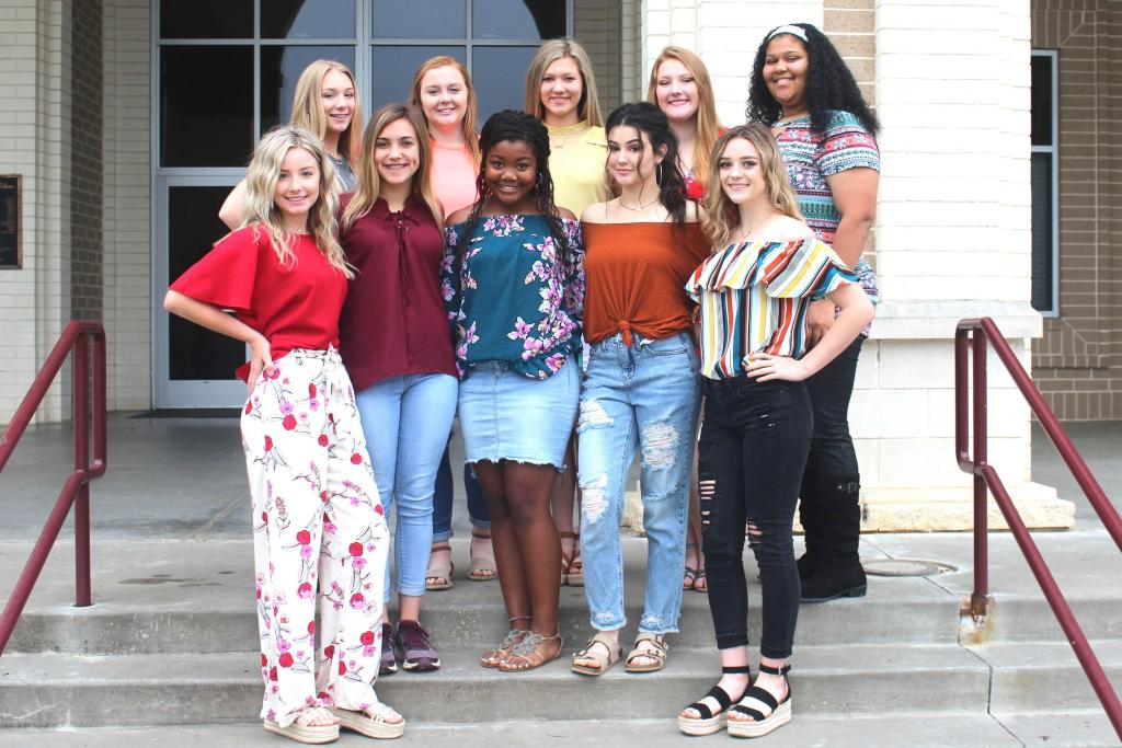 Tenaha ISD is proud to announce the Tenaha High School Cheerleaders for the 2019-2020 school year. The new Tiger Cheerleaders are (front row left to right) Drew Henry, Ashleigh Head, Kamari Gray, Gracie Martinson, Paige Estes, (back row left to right) JayLynn Durbin , Hunter Collins, Olivia Ford, Addy Duncan, and mascot, Kristen Rasberry.