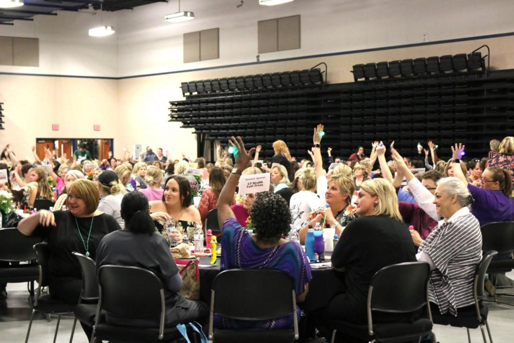 Almost 550 attendees gathered at the Carthage Civic Center to support Panola College students.