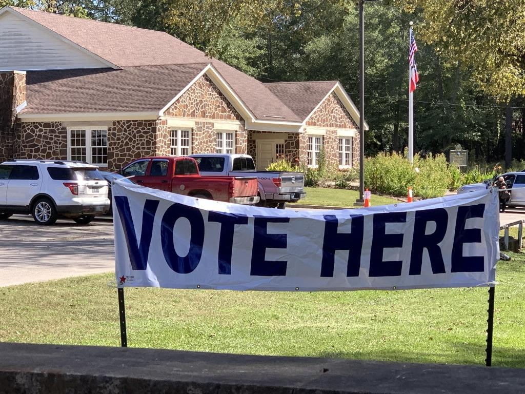 The Center Community House on San Augustine Street is once again serving as the early voting location for all of Shelby County. (Mike Elswick/The Light and Champion)