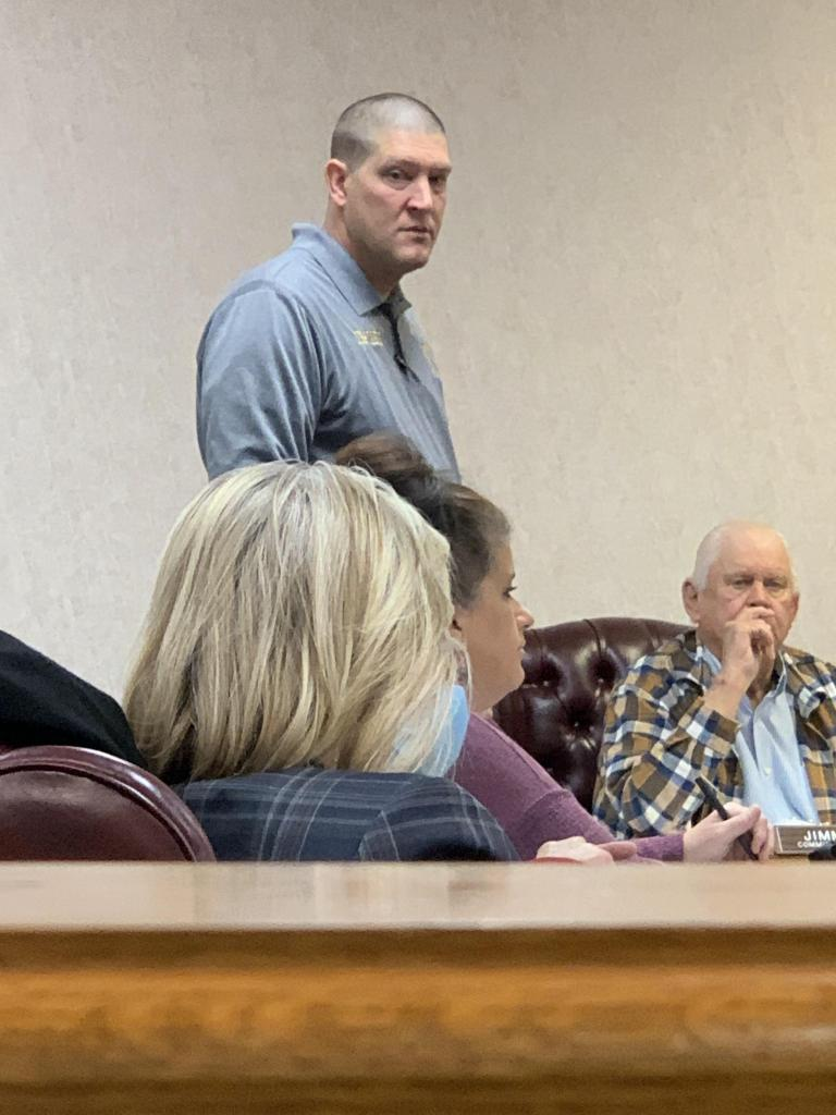 Pct. 5 Constable Josh Tipton's request for funds to purchase a vehicle was tabled at last week's county commissioners' court meeting.