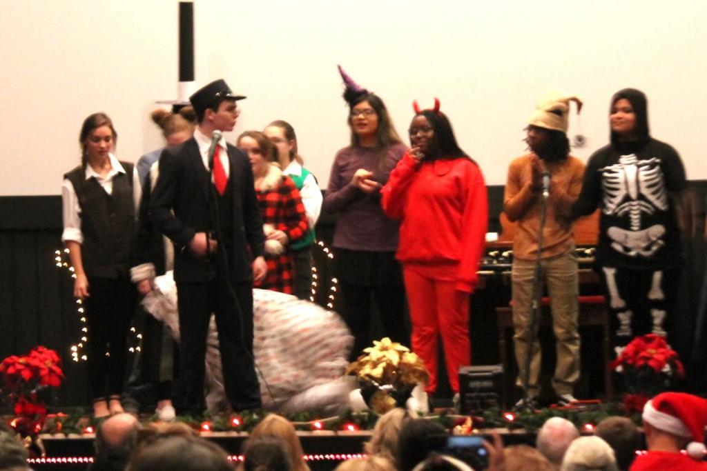 Center High School Theater Department students are seen during a December play.
