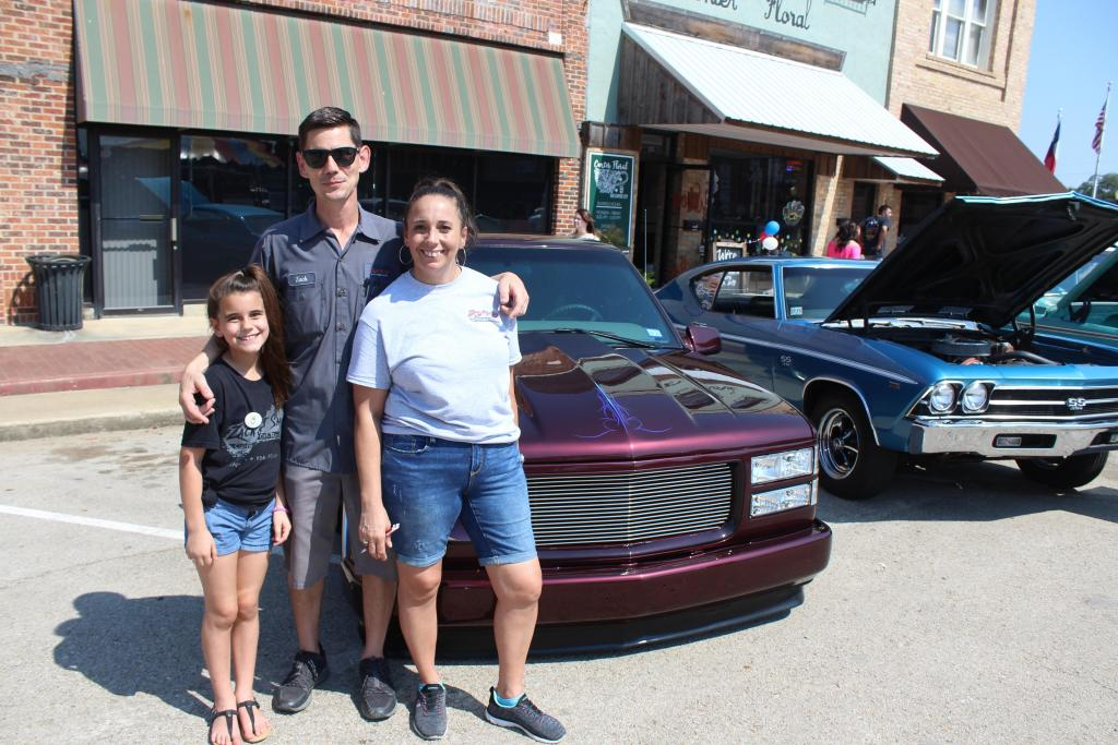 Zack's Tint Shop crew, including Zack, Cyndi and Sophia Mahan, sponsored the Poultry Fest Car and Motorcycle Show.
