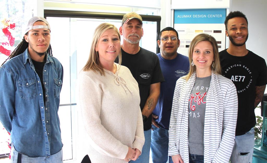 The staff of Center Glass, which is a lifetime members of the Shelby County Museum, is seen. From left, Jamarcus Watts, Tiffany Jamison, Brian Lewis, Lino More, Anna Lee, and Jaderrick Norris. Not photographed is Austin Lewis.