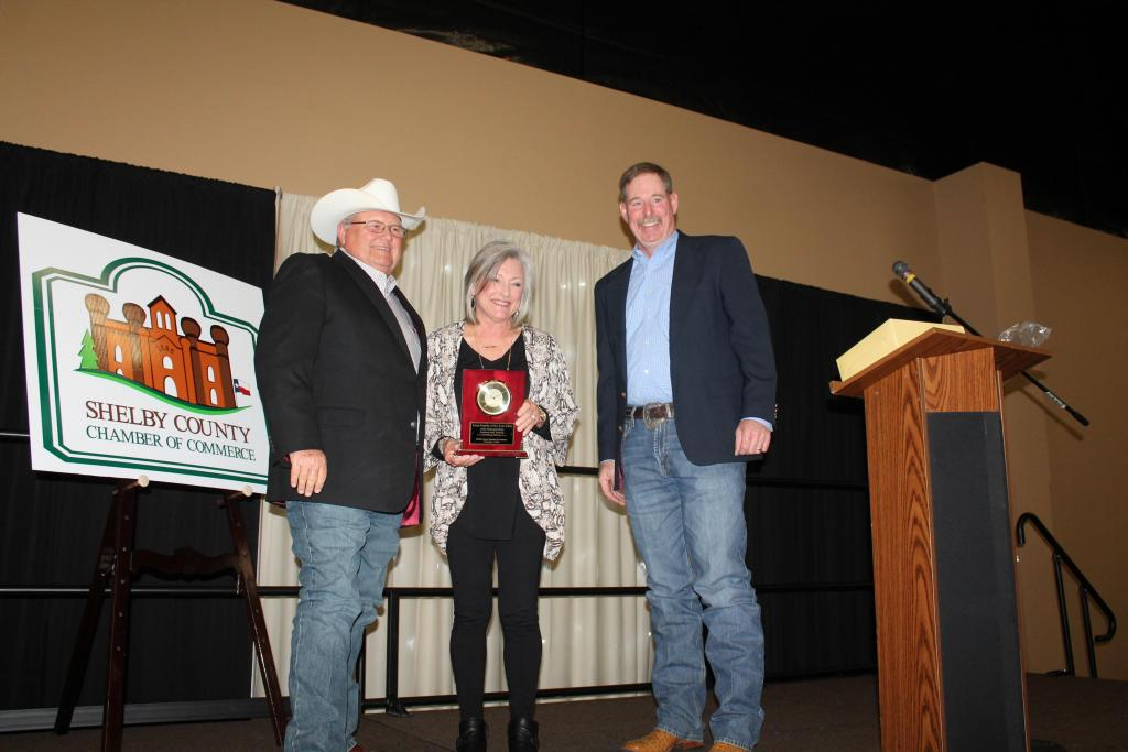 John Paul and Dixie Lawson were honored by Farm Family of the Year by Lane Dunn.