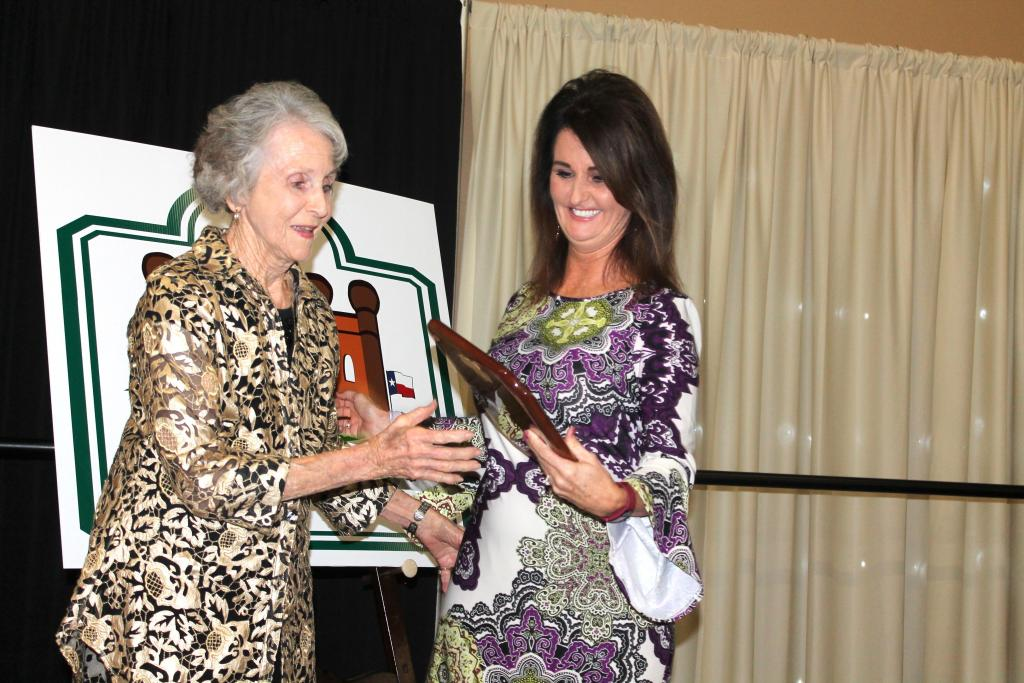 Fannie Watson was presented the chamber's Distinguished Service Award by Jheri-Lynn McSwain.