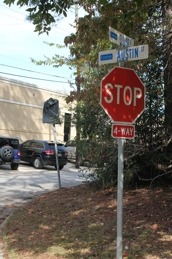 The sign on Elliott Street at Austin advising motorists not to enter from that direction has been covered on a temporary basis.