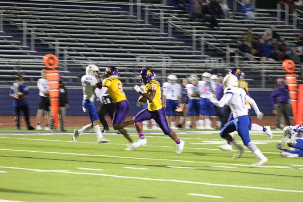 KeAmodre Horace, #32, rushed for more than 200 yards in the game.