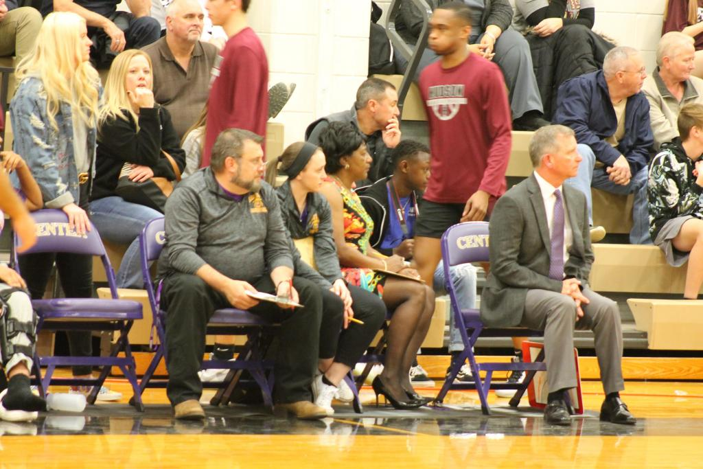For the second year in a row Coach Doug Boone, seated right, and the Lady Riders are advancing to playoffs.