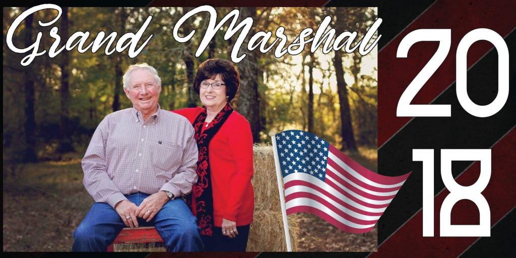 Roland and Dianne Cross - the 2018 Grand Marshals