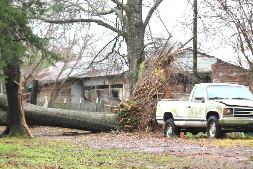 The Ballard Street area of Center along with the Lakewood subdivision were a couple of areas hit hard by Saturday's tornado