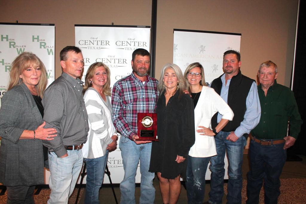 Farm Family of the Year winners Waylon and Margo Griffith with family.