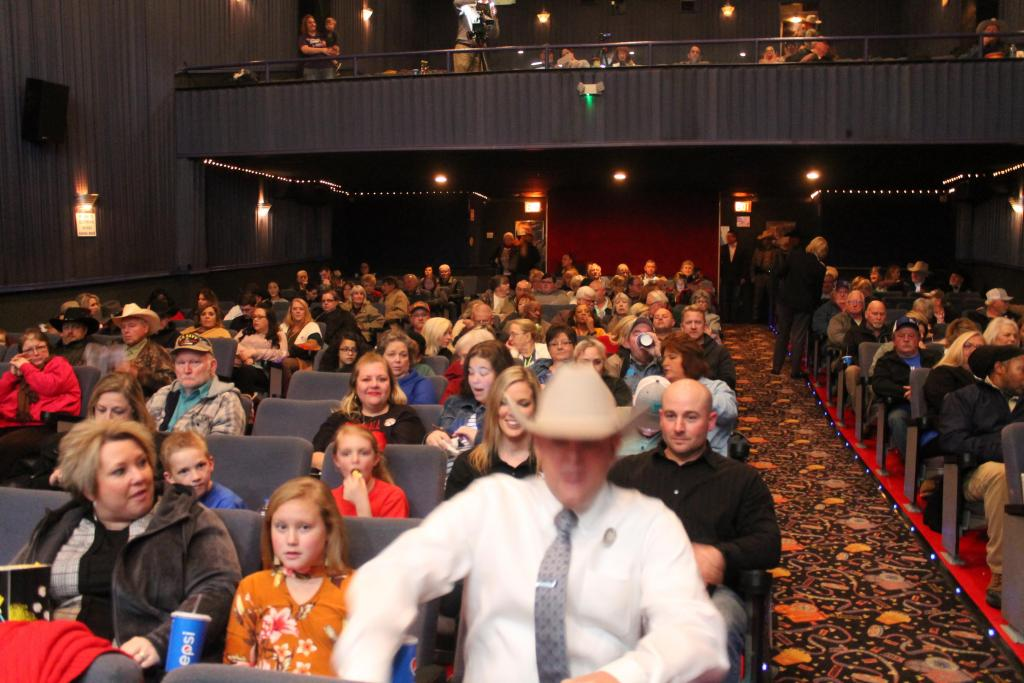 Despite chilly temperatures a good crowd was on hand at the Rio Theatre.