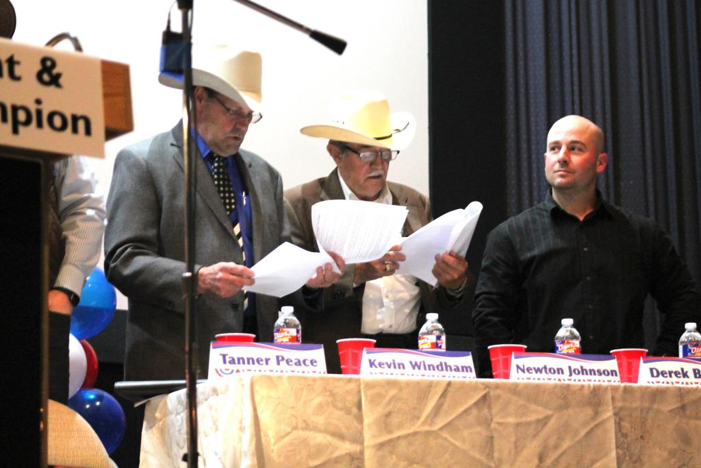 Candidates for sheriff each made presentations.