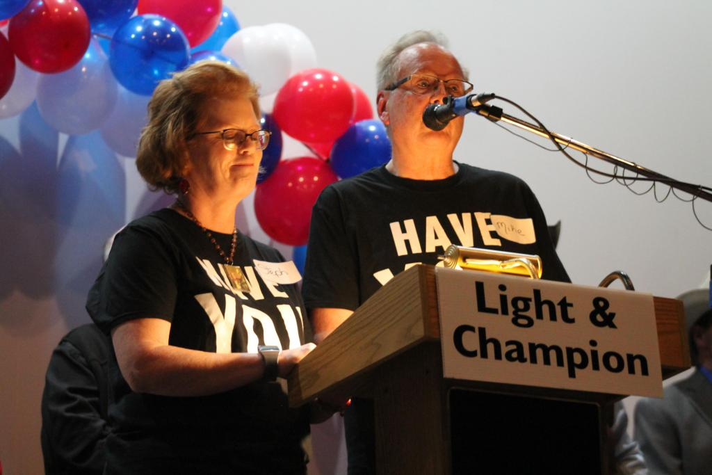 Light and Champion Marketing DIrector Stephanie Elswick and Publisher Mike Elswick welcomed attendees.