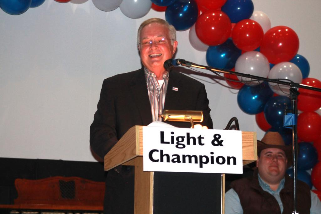 Moderator for the event was Texas Railroad Commission Chairman Wayne Christian.