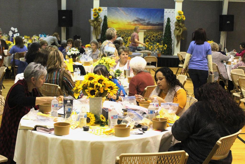 A crowd estimated at approximately 175 women attended the Joy Seekers Conference.