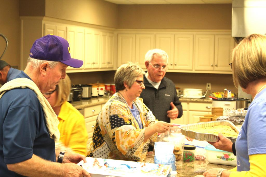 Included in the number of volunteers, was the men's group from First Baptist Church which prepared lunch and a light breakfast for attendees.