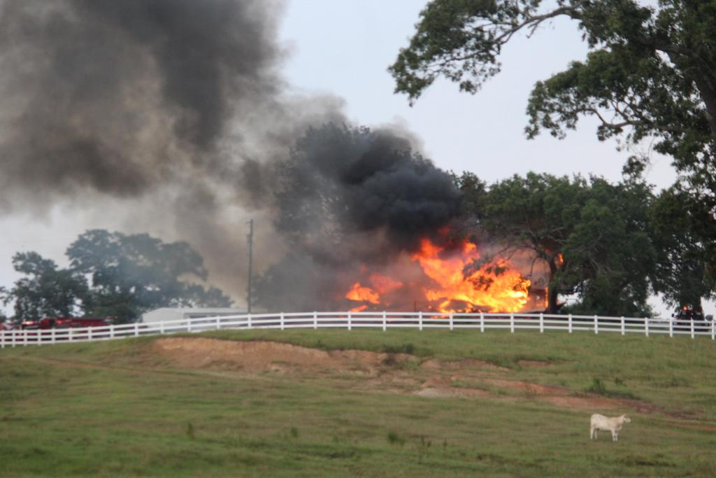 Firefighters with the first units on the scene reported the two-story home was fully involved in flames upon their arrival.