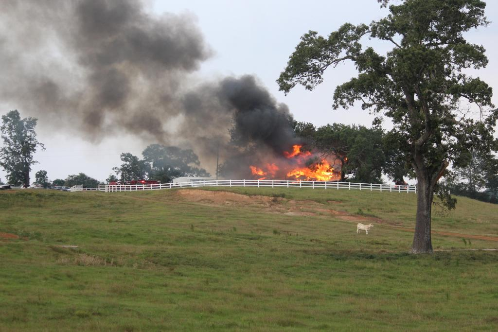 Firefighters received the call to respond to a CR 1211 fire about 4:33 p.m. Sunday.