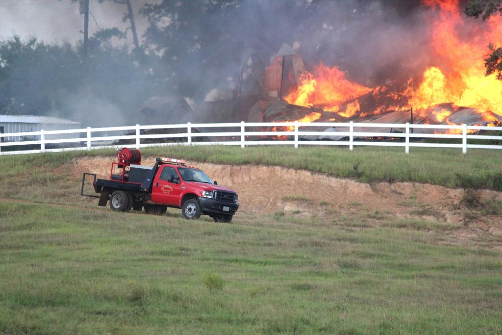 West Shelby County VFD was assisted by Center firefighters Sunday afternoon.
