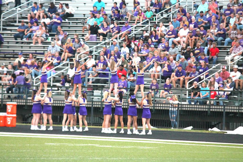 Dedicated Roughrider fans filled the stands after making their secon trip to Tatum in two days after Friday's game was postponed until Saturday due to weather.