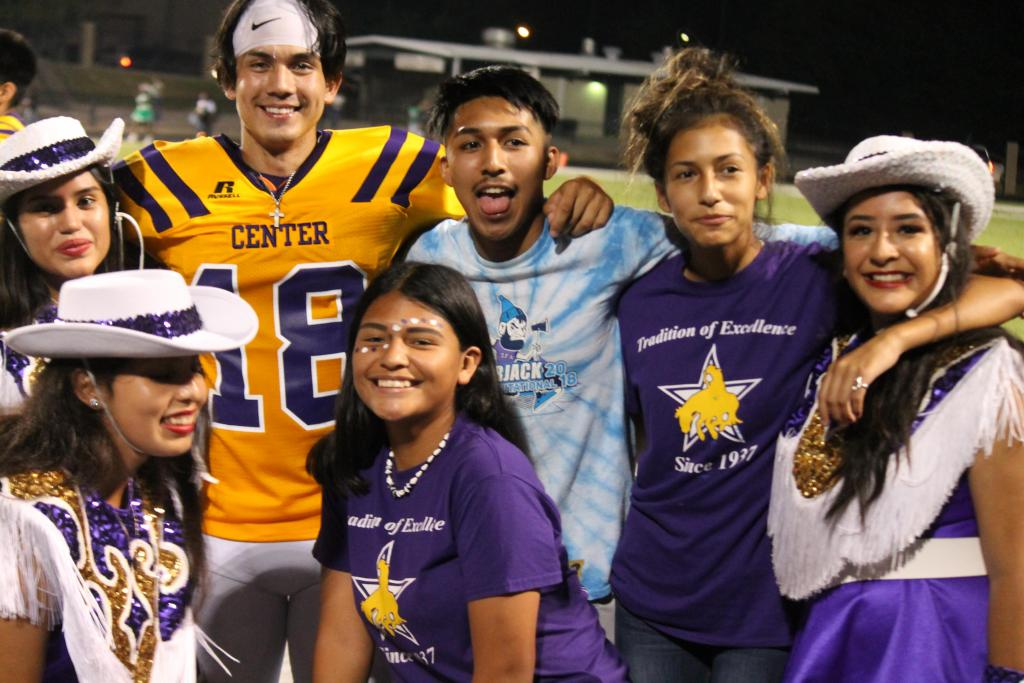 Center kicker Alexis Lopez, #18, poses after the game, His PAT's helped the Riders pull out a win.