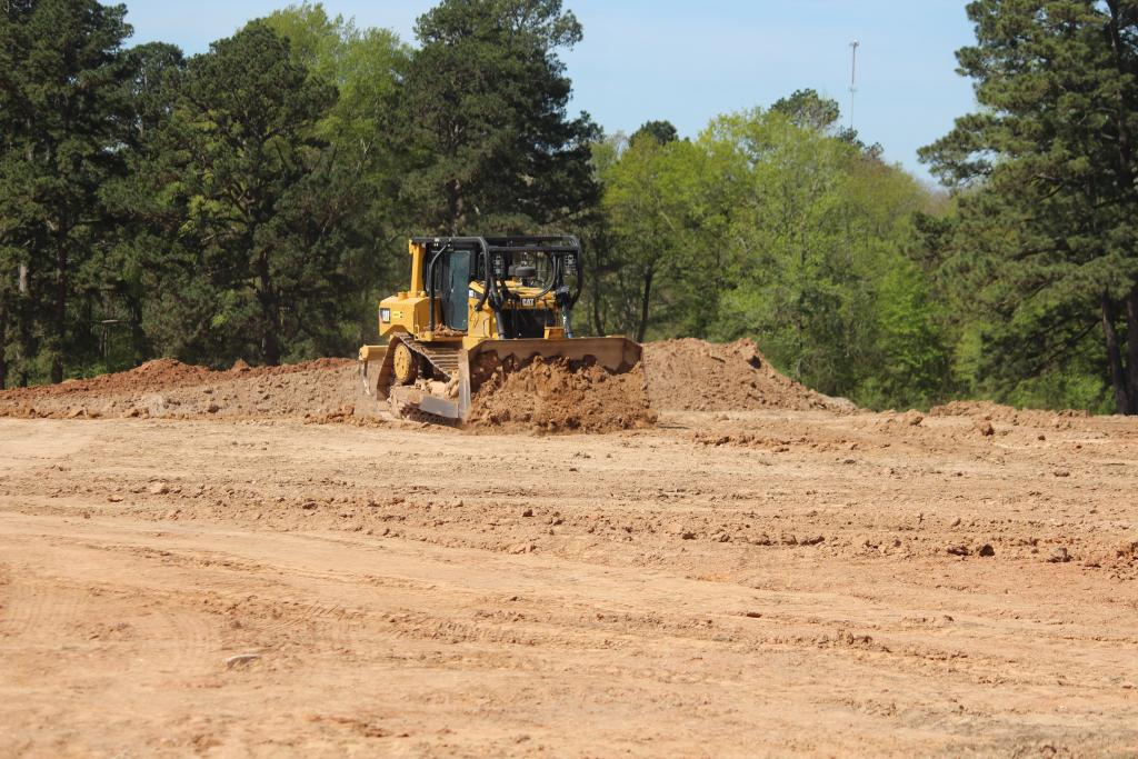 Site work progresses at F.L. Moffett on Wednesday, March 27.