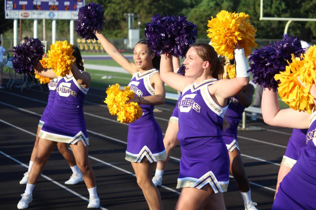 JV cheerleaders saw their first football game sideline action Thursday.