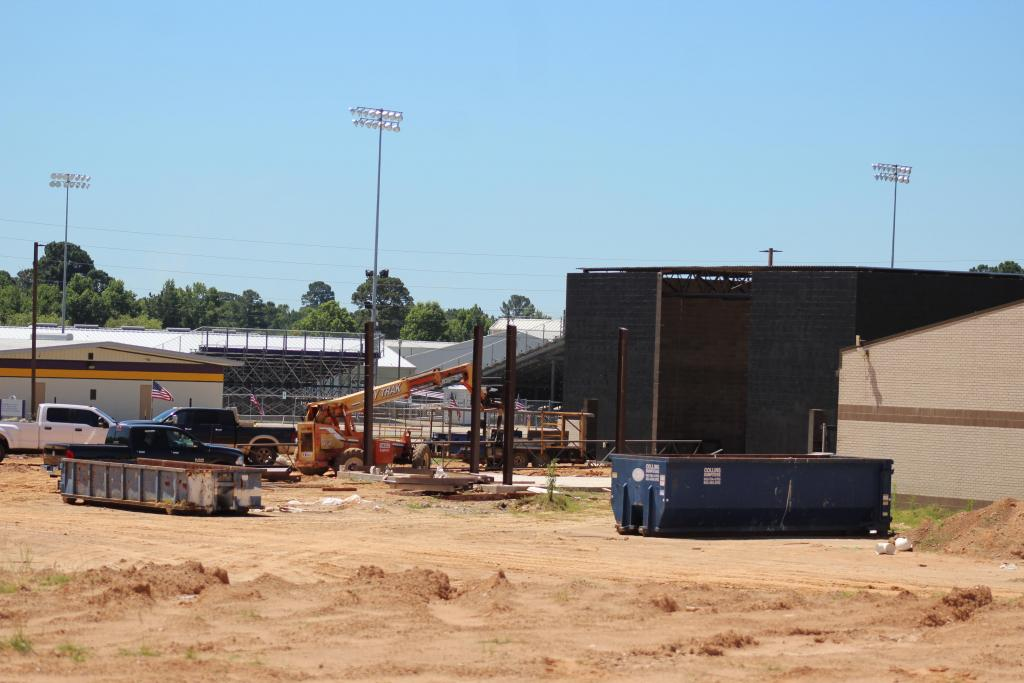 Construction work continues Thursday at the F.L. Moffett campus.
