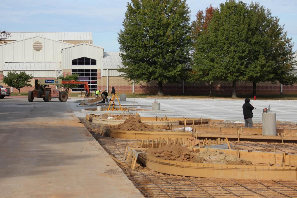 Scene of work on CHS parking over recent months.