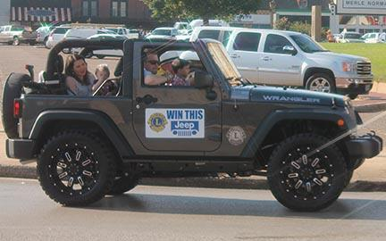Lions Club Jeep Giveaway
