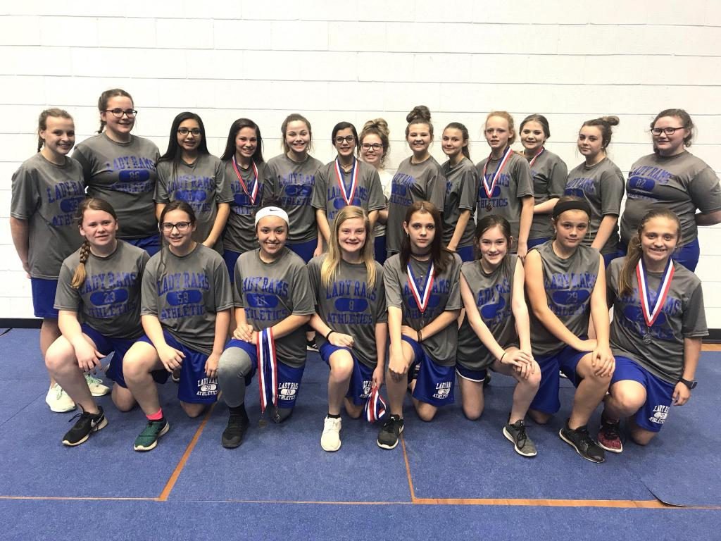 Joaquin Lady Rams 8th grade track team takes third in district.
