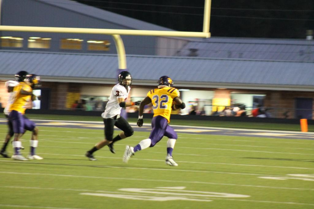 Horace, No. 32, is seen in action against Gladewater in the 2019 season.