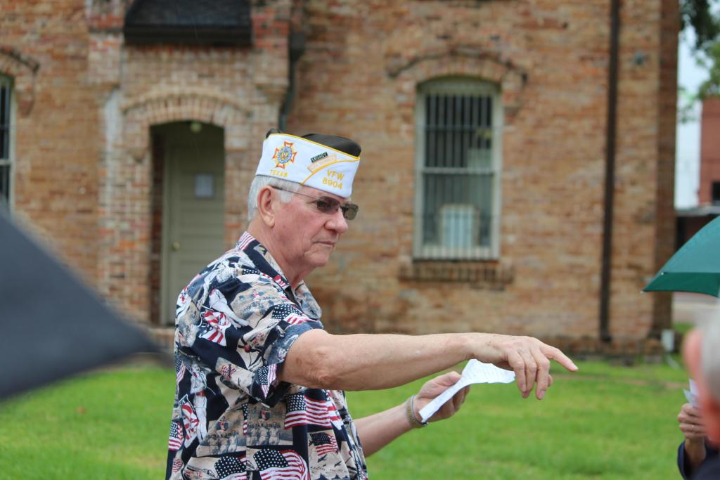 Larry Hume seen at an earlier ceremony in front of the Historic Shelby County Courthouse