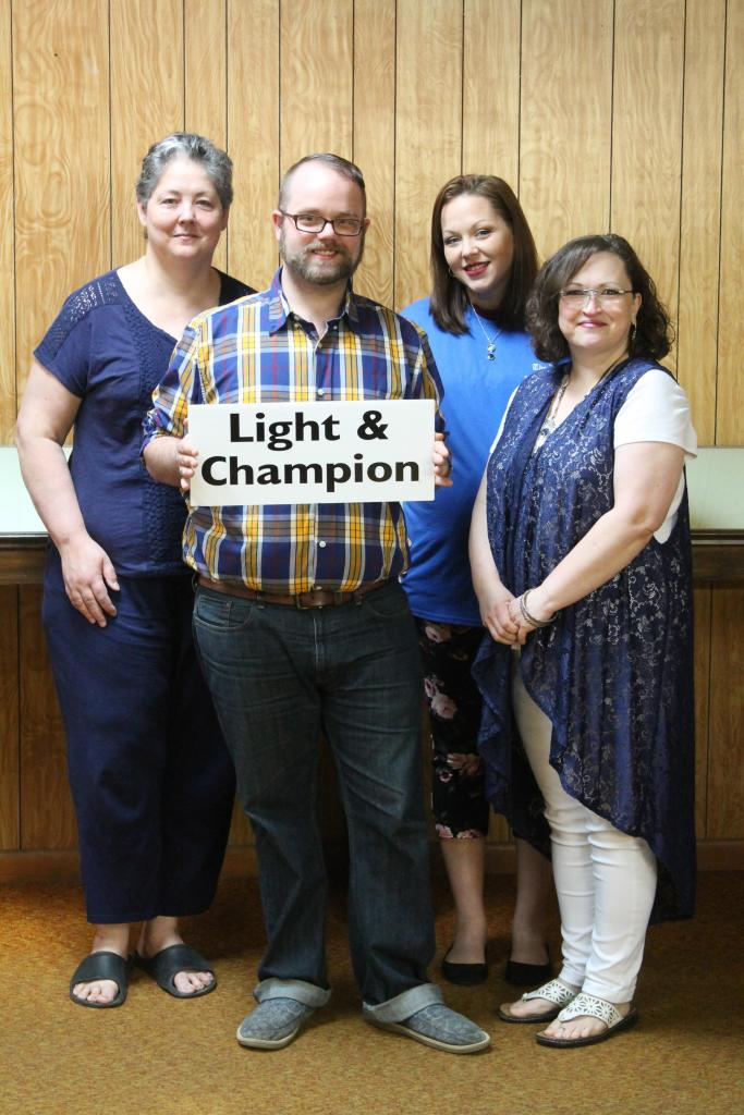 Members of the Light and Champion show support for #GoBlueDay!