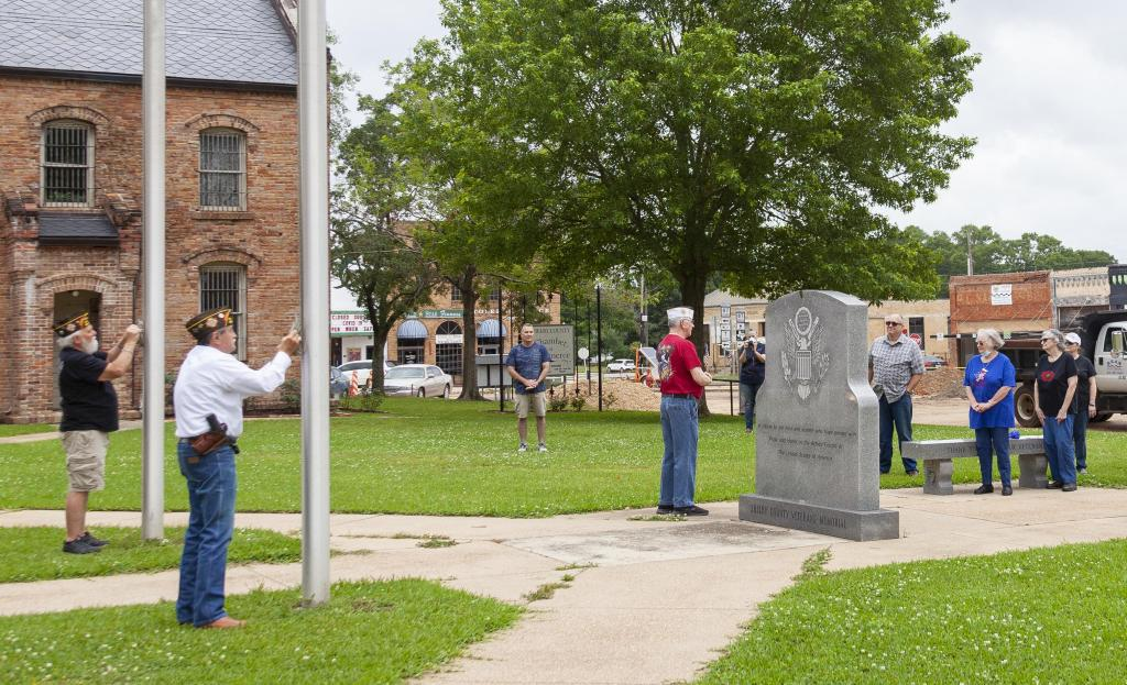 VFW Post 8904 and guests attend a brief Memorial Day Ceremony at noon Monday.