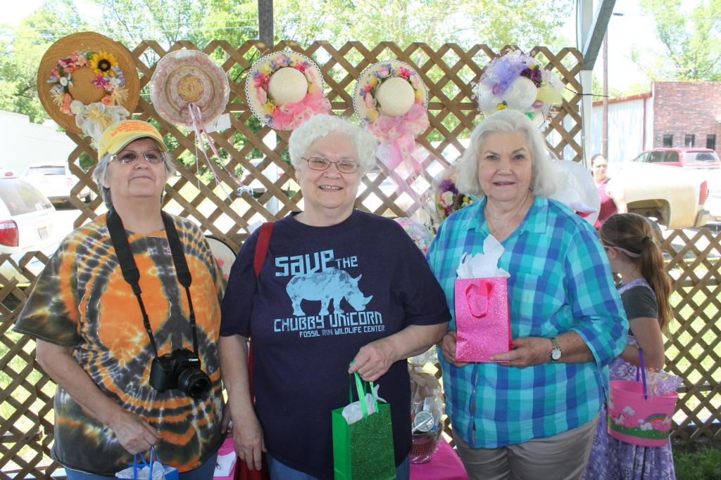 Judges for the Easter Bonnet contest included from left Nancy Stevens, Sue Smith and Mayor Pat Gray.
